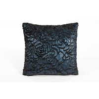 Blue Veda Rose 18 Inch Throw Pillow