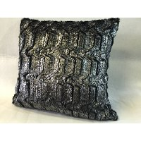 Silver Leaf 18 Inch Throw Pillow