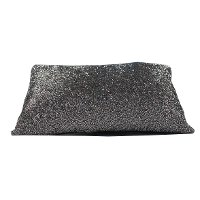 Silver Graphite Throw Pillow