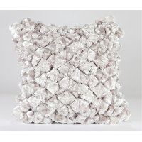 Shimmer Pebble 18 Inch Platinum Throw Pillow