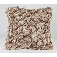 Shimmer Pebble 18 Inch Ginger Ale Throw Pillow