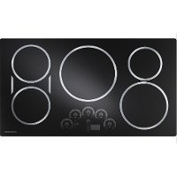 ZHU36RDJBB Monogram 36 Inch Induction Cooktop - Black