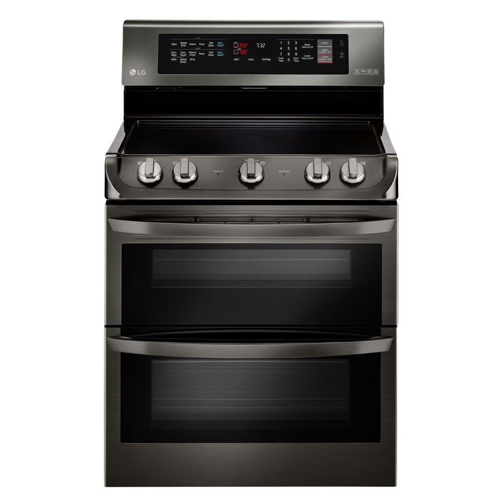 lg 4 piece kitchen appliance package with electric range black stainless steel rc willey. Black Bedroom Furniture Sets. Home Design Ideas