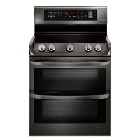 LDE4415BD LG 30 Inch Double Oven Electric Range - Black Stainless Steel