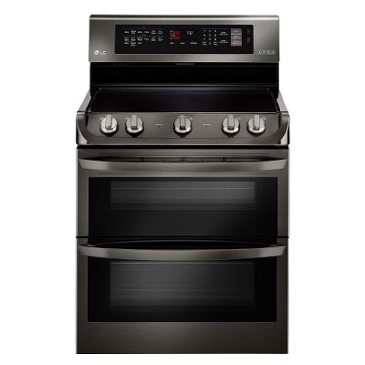 LDE4415BD LG Double Oven Electric Range - 7.3 cu. ft. Black Stainless Steel