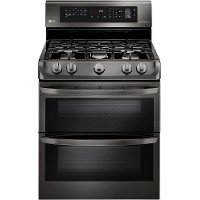 LDG4315BD LG Double Oven Gas Range - Black Stainless Steel