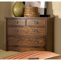 Classic Mission Brown Chest of Drawers - Oak Park