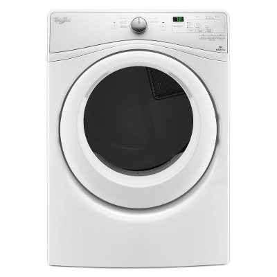 WED75HEFW Whirlpool Electric Dryer with Advanced Moisture Sensing System - 7.4 cu. ft. White