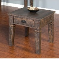 Tobacco Brown End Table - Homestead Collection