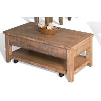 Distressed Lift Top Cocktail Table - Driftwood