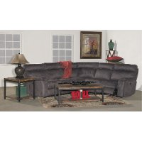 Gray 5 Piece Manual Reclining Sectional Sofa - Maci