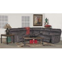 Gray 6 Piece Power Reclining Sectional Sofa - Maci