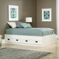 Soft White Twin Platform Bed - County Line
