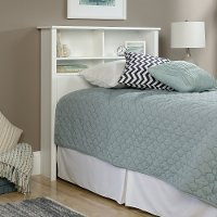 Soft White Twin Bookcase Headboard - County Line