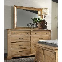 Natural Pine Rustic Classic Dresser Rc Willey Furniture