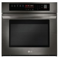 LWS3063BD LG 30 Inch Single Wall Oven with Convection - 4.7 cu. ft. Black Stainless Steel