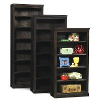 Cappuccino Brown 72 Inch Bookcase with Adjustable Shelves
