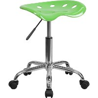 Vibrant Apple Green Adjustable Tractor Seat Stool