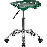 Vibrant Green Adjustable Tractor Seat Stool