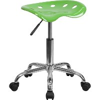 Vibrant Lime Green Adjustable Tractor Seat Stool