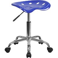Vibrant Nautical Blue Adjustable Tractor Seat Stool