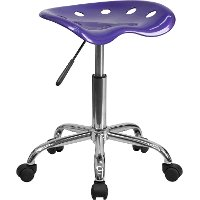 Vibrant Violet Adjustable Tractor Seat Stool