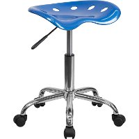 Vibrant Bright Blue Adjustable Tractor Seat Stool