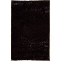 8 x 10 Large Black Contemporary Area Rug - Faux Fox