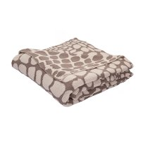NTH01/GIRAFFE/THROW Taupe Gray and Turtle Dove Giraffe Throw