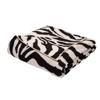 NTH02-ZEBRA/THROW Pristine Zebra Throw