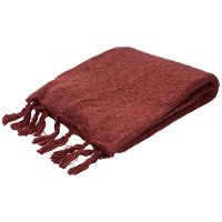 GEM06-GEM/RED/THROW Marsala Red Throw Blanket