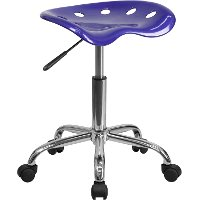 Vibrant Deep Blue Adjustable Tractor Seat Stool