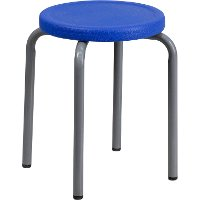 Heavy Duty Blue Plastic Seat Stacking Stool