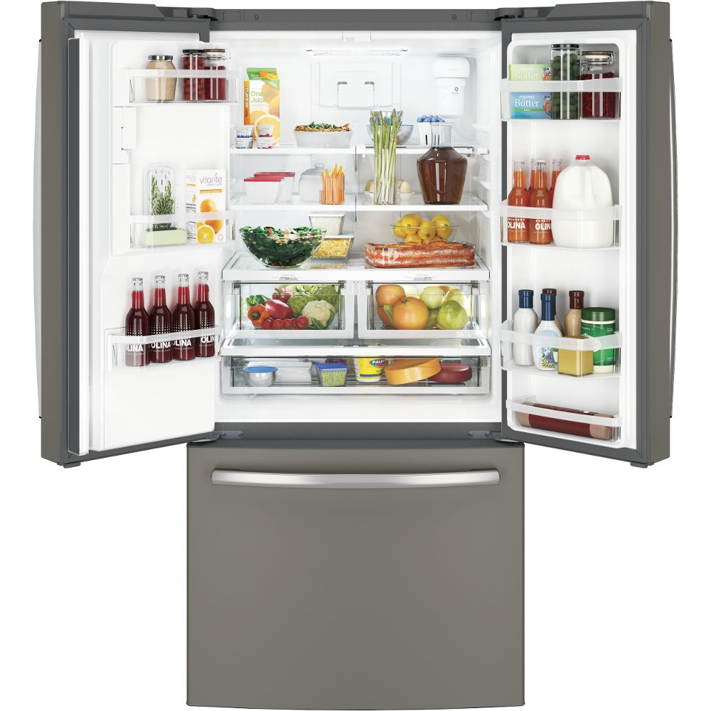 GE 33 Inch Wide French Door Refrigerator   Slate | RC Willey Furniture Store