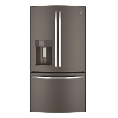 GFE28GMKES GE French Door Refrigerator - 36 Inch Slate