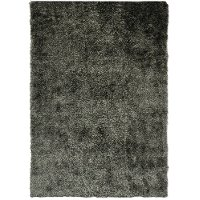 5 x 7 Medium Gray Shimmer Area Rug - Lurex