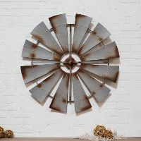 Metal Windmill Decor