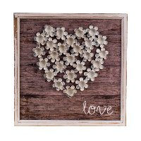 Wood Love Plaque Wall Art