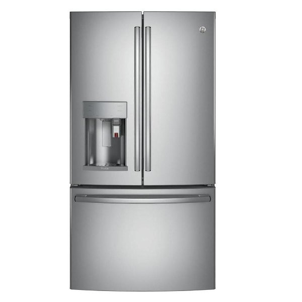 ... PYE22PSKSS GE French Door Refrigerator With TwinChill™ Evaporators   36  Inch Stainless Steel Counter Depth ...