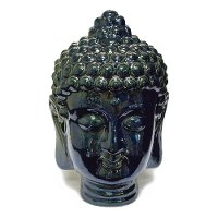 12 Inch Blue Buddha Head Sculpture