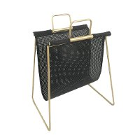 Gold and Metal Magazine Rack