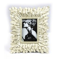 3.5 x 5 Cream Leaf Picture Frame