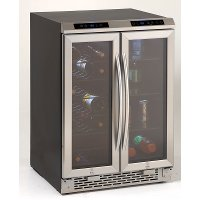 WBV19DZ Avanti Dual Zone Wine/Beverage Cooler - Black and Stainless Steel