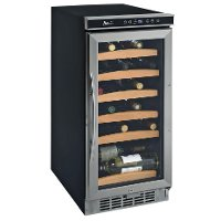 WC1500DSS Avanti 30 Bottle Wine Cooler with Electronic Display - Black and Stainless Steel