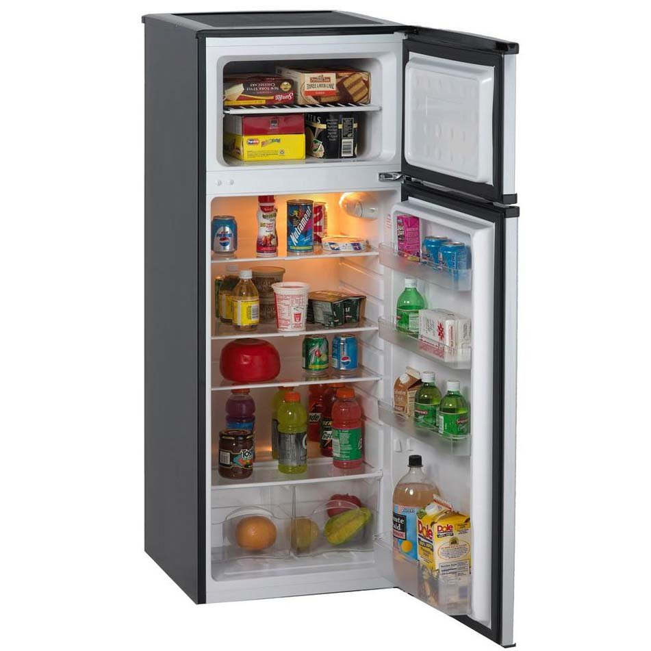 Avanti Two Door Compact Refrigerator   Stainless Steel | RC Willey  Furniture Store