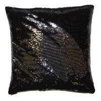 Black and Silver 20 Inch Mermaid Throw Pillow
