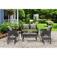CHEL-6PC-GRN Outdoor Green 6 Piece Patio Set - Chelsea