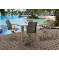 HERDN5PC-BAR Outdoor 5 Piece High-Dining Set - Hermosa
