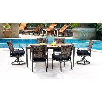 MERCDN7PCSW-NVY Outdoor Blue 7 Piece Dining Set - Mercer