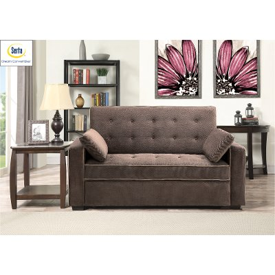 Java Brown Full Convertible Sofa Bed - Augustine - Java Brown Full Convertible Sofa Bed - Augustine RC Willey